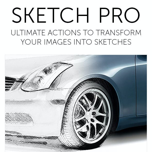 Sketch Pro - Photoshop Action