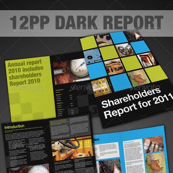 12pp Dark Report / Brochure - InDesign