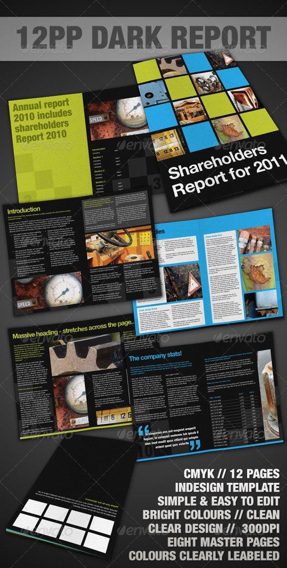 12pp Dark Report / Brochure - InDesign - Corporate Brochures
