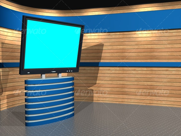 3D-TV_Studio_A_01 - Business Backgrounds