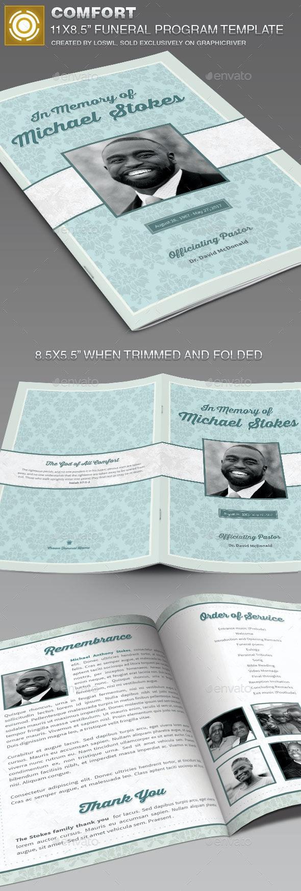 Comfort Funeral Program Template - Informational Brochures