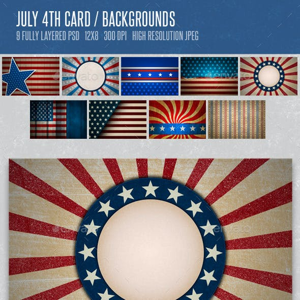 4th of July Card Backgrounds