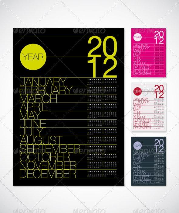 2012 Calendar Poster A3 - Calendars Stationery