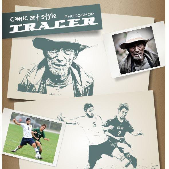 Comic Art Style Photoshop Tracer