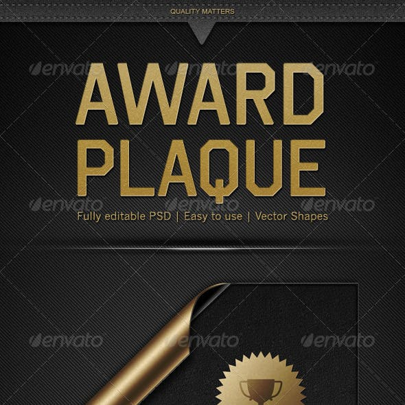 Plaque Graphics Designs Templates From Graphicriver