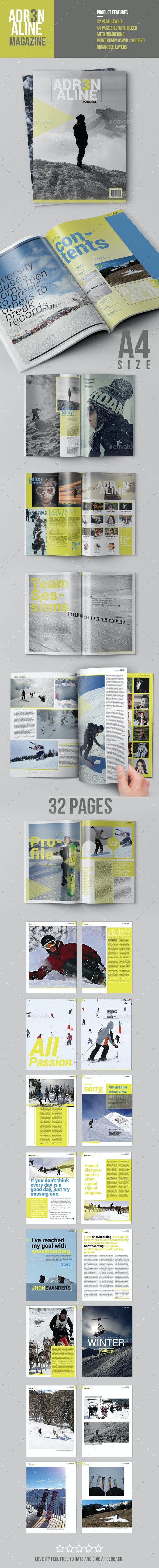 Adrenaline Magazine Template - Magazines Print Templates