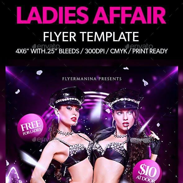 Ladies Affair Flyer Template