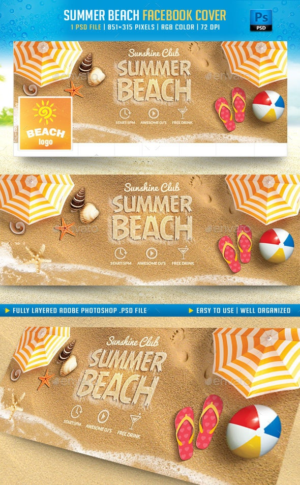 Summer Beach Facebook Cover - Facebook Timeline Covers Social Media