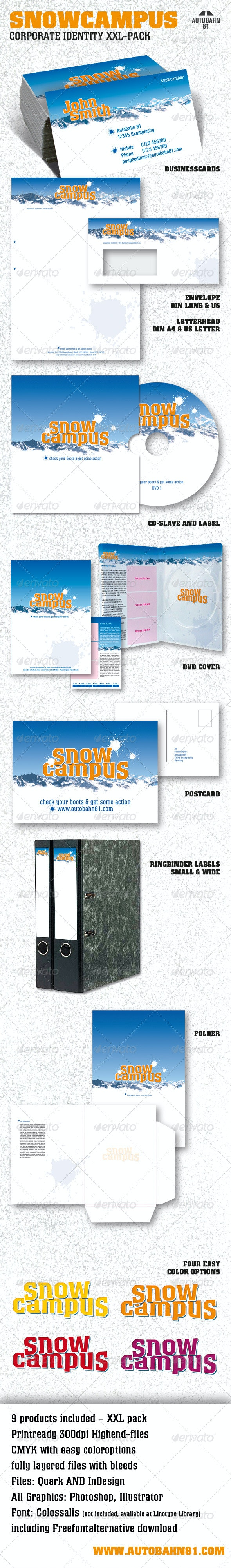 SnowCampus Winter Stationery - Stationery Print Templates