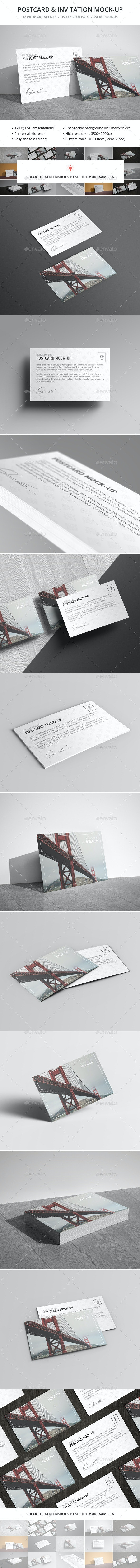 Postcard & Invitation Mock-up - Miscellaneous Print