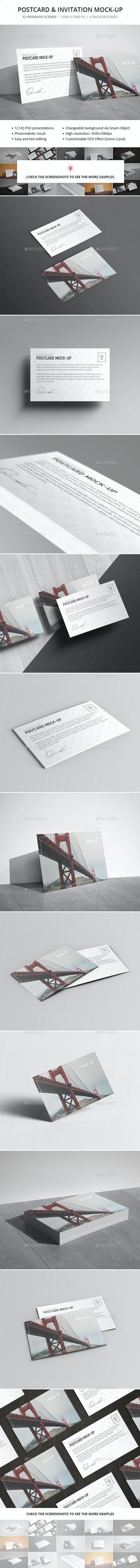 Postcard & Invitation Mock-up - Miscellaneous Print