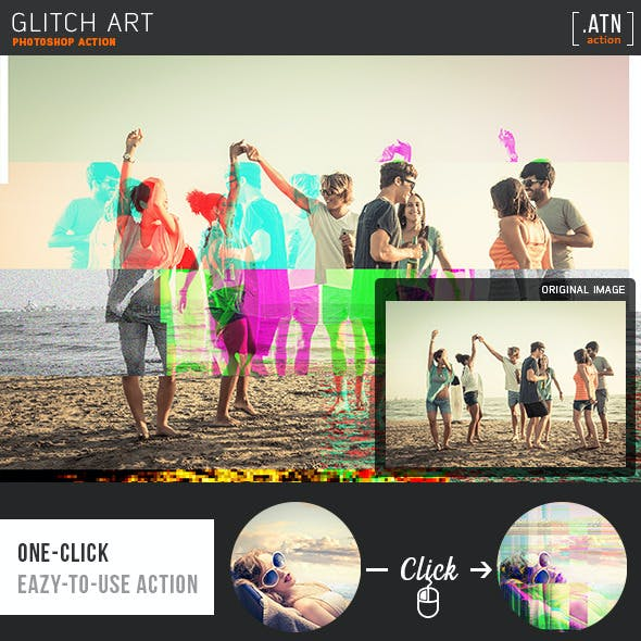 Glitch Art Photoshop Actions