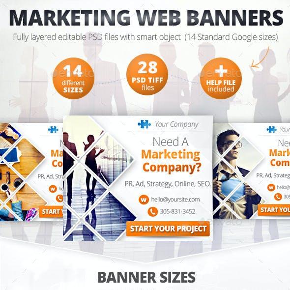 Business Marketing Web Banner Set