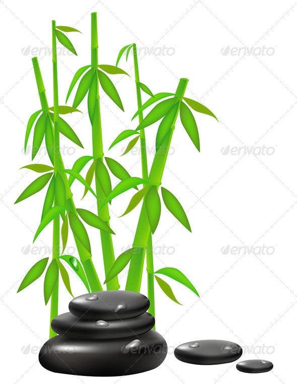 Zen Stones with Bamboo - Health/Medicine Conceptual
