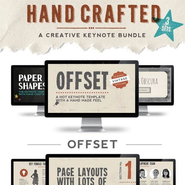 Hand Crafted Keynote Presentation Bundle