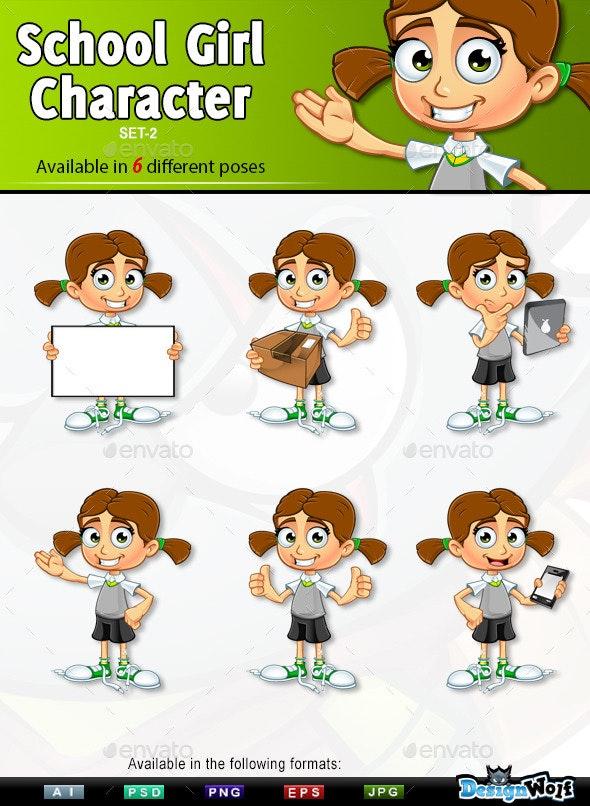 School Girl Character - Set 2 - People Characters
