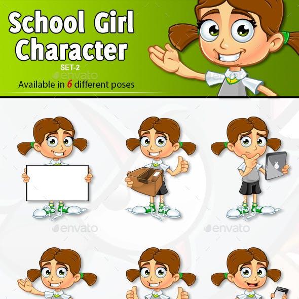 School Girl Character - Set 2
