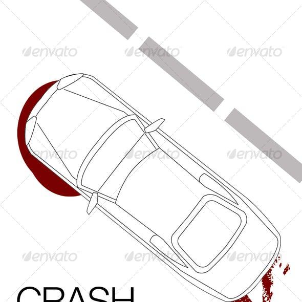 Elegant illustration of car from above