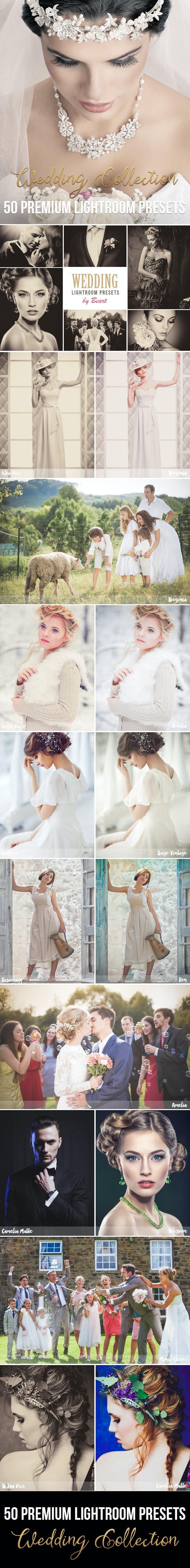50 Premium Wedding Lightroom Presets - Wedding Lightroom Presets