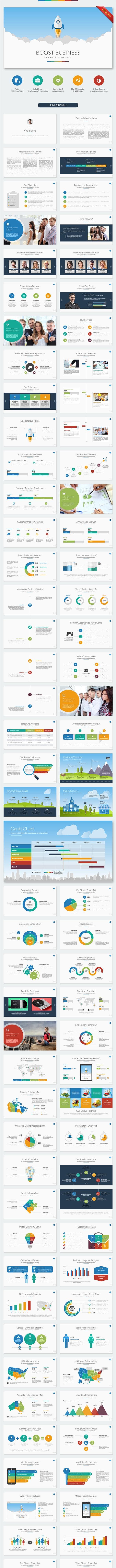 Boost Business Keynote Template - Business Keynote Templates
