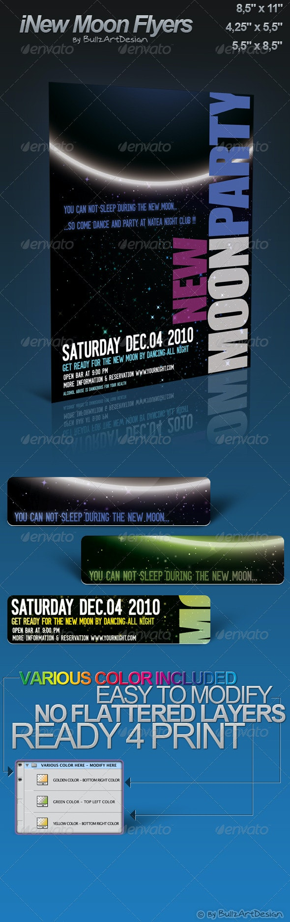 iNew Moon Party Flyers - Clubs & Parties Events