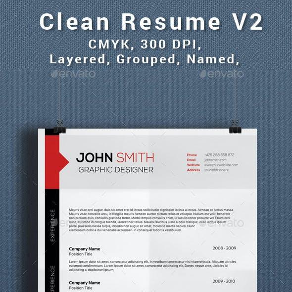 Clean Creative Resume V2