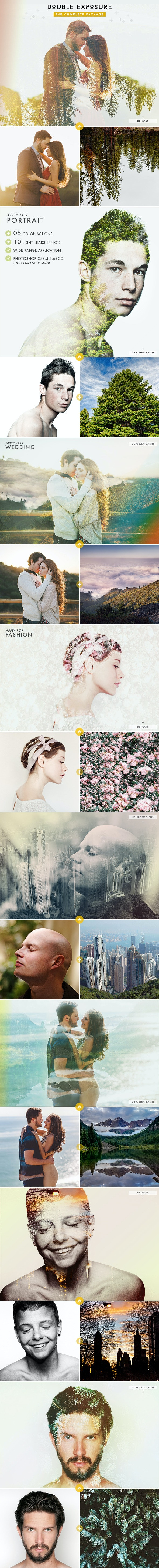 Double Exposure - The Complete Package - Photo Effects Actions