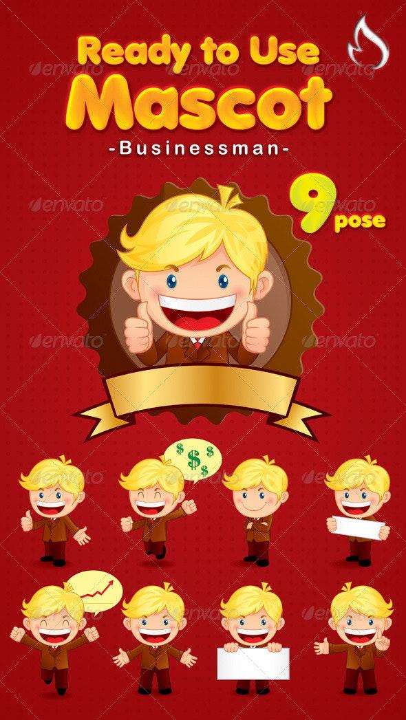 Businessman mascot - Characters Vectors