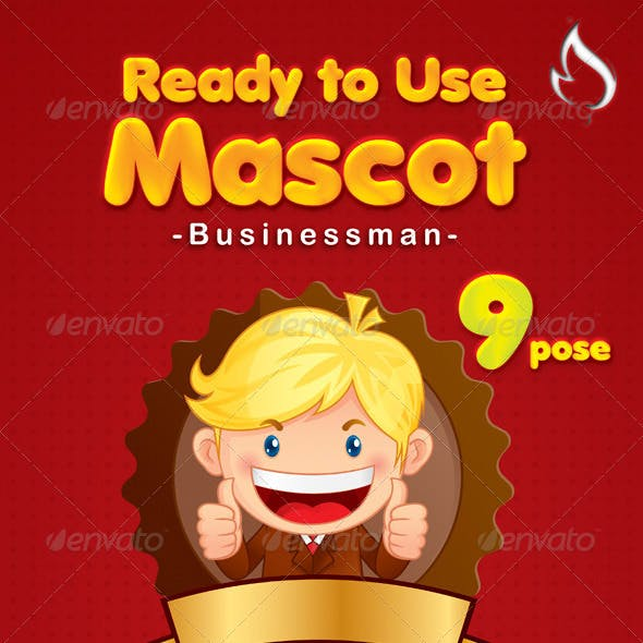 Businessman mascot