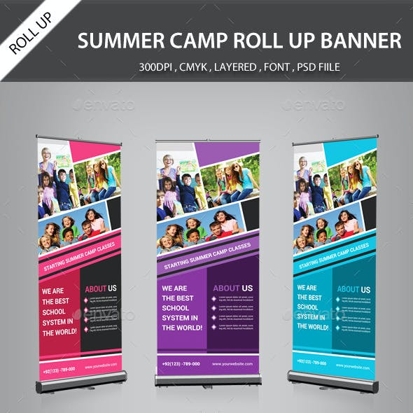 Summer Camp Rollup Banner