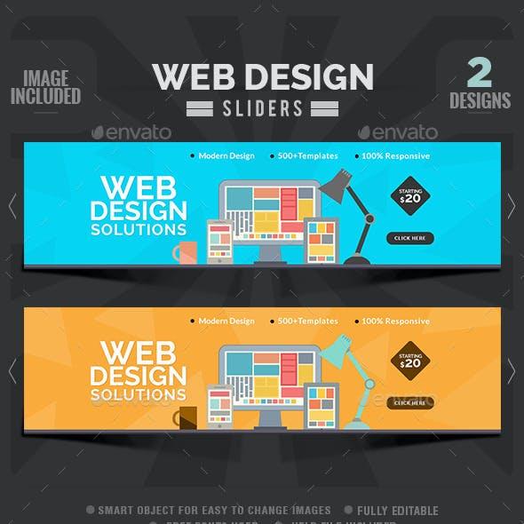 Web Design Sliders - 2 Designs