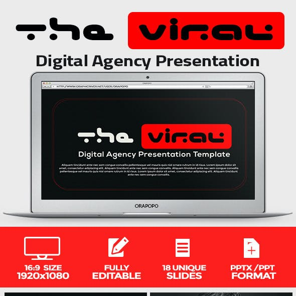 The Viral Digital Agency Presentation Template