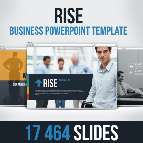 Rise Business Powerpoint Presentation Template
