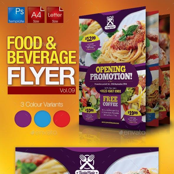 Restaurant Flyer Vol.09
