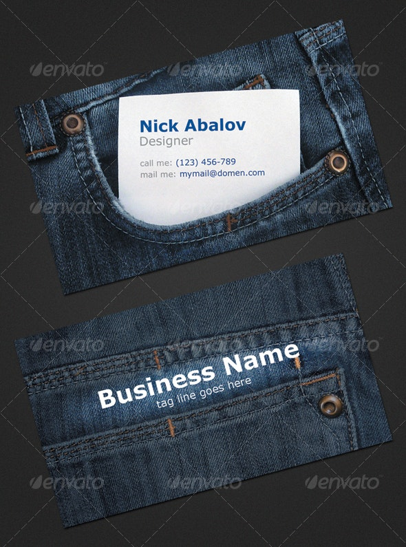 Jeans Business Card - Real Objects Business Cards