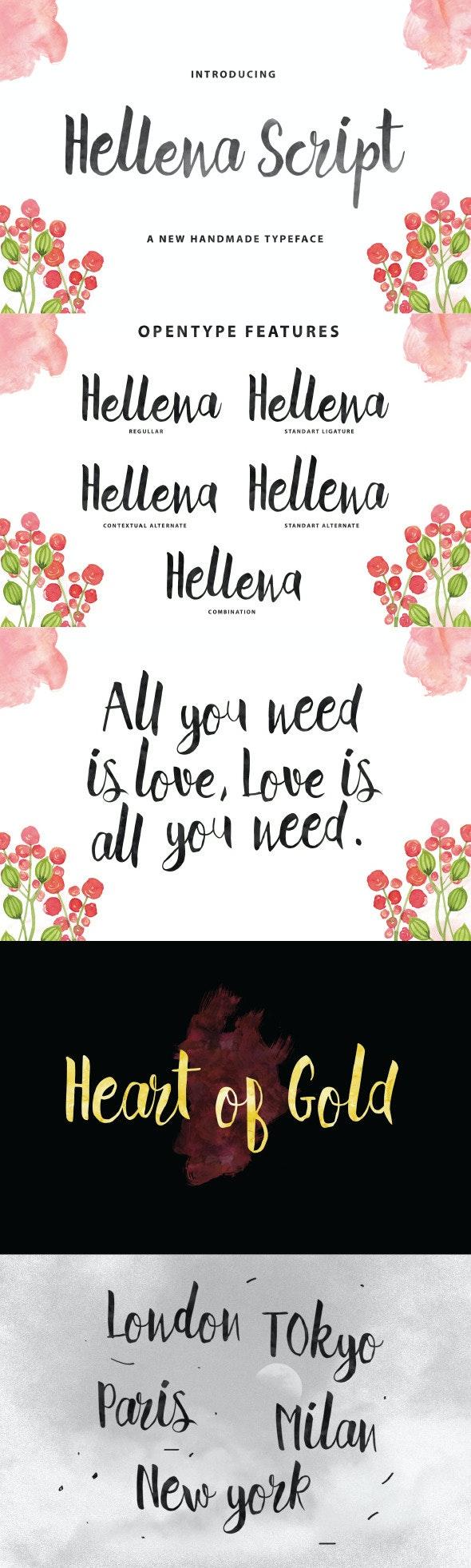 Hellena Script - Hand-writing Script