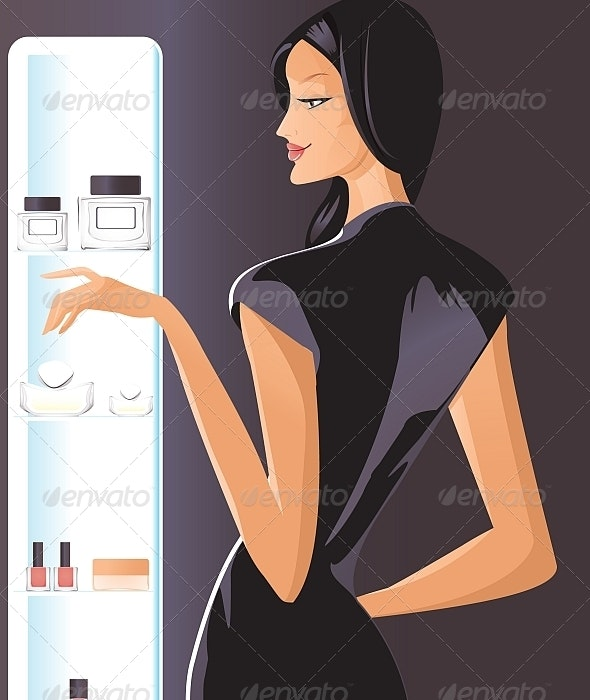 In the Department of Cosmetics and Perfumes - People Characters