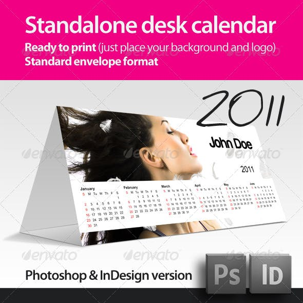 Standalone (two sided) Desk Calendar 2011