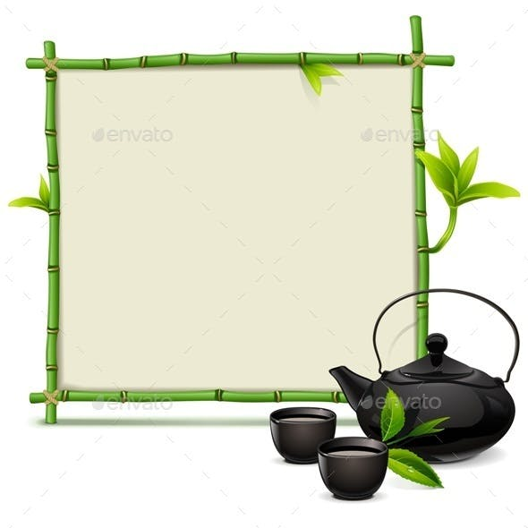 Bamboo Frame with Tea