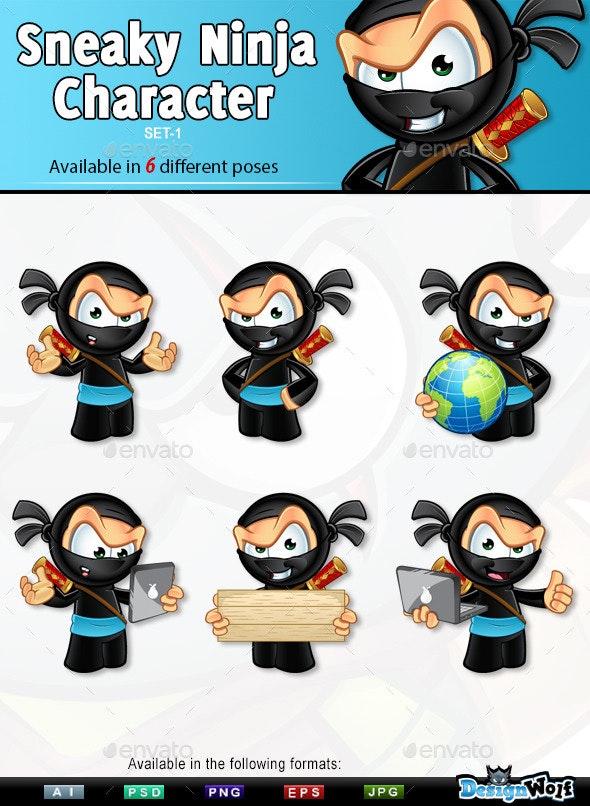 Sneaky Ninja Character - Set 1 - People Characters