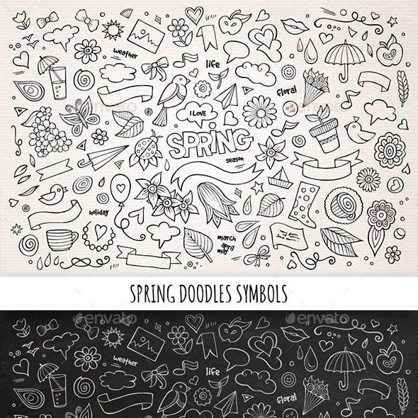 Hand Drawn Spring Doodles Symbols