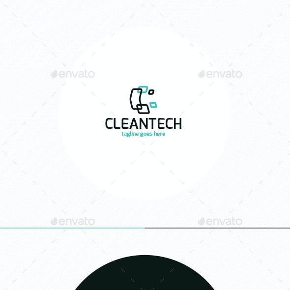 Clean Tech Logo • Letter C