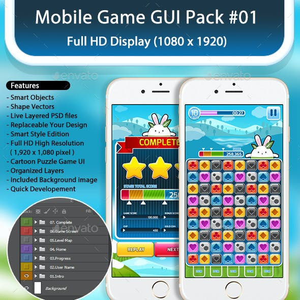 Mobile Game GUI Pack no1