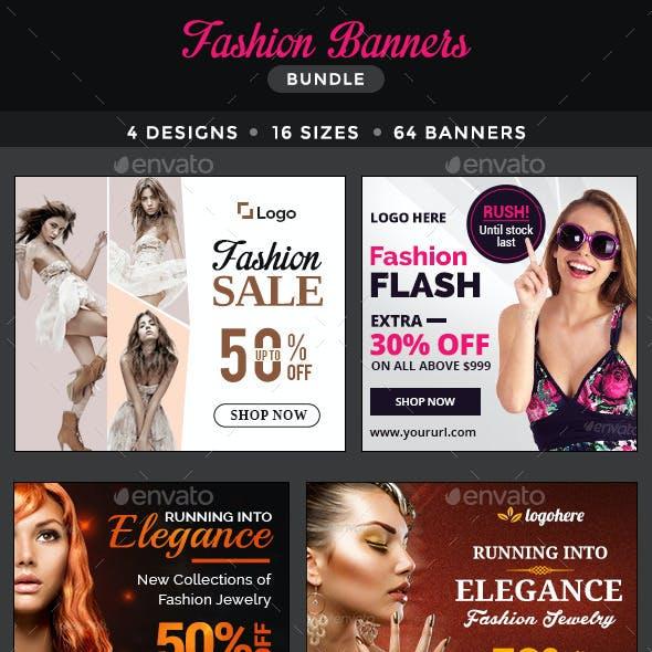 Fashion Banners Bundle - 4 Sets