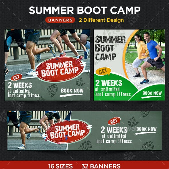 Summer Boot Camp Banners - 2 Sets