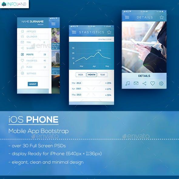 Zeus iOS Phone / Mobile App Bootstrap