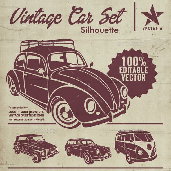 VW Silhouette Car Set
