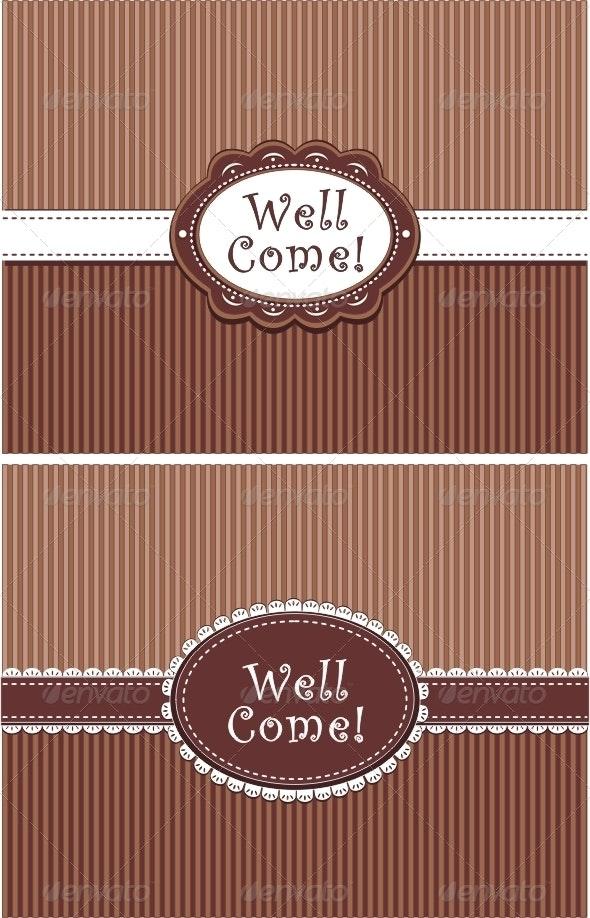 Invitation in chocolate colors - Invitations Cards & Invites