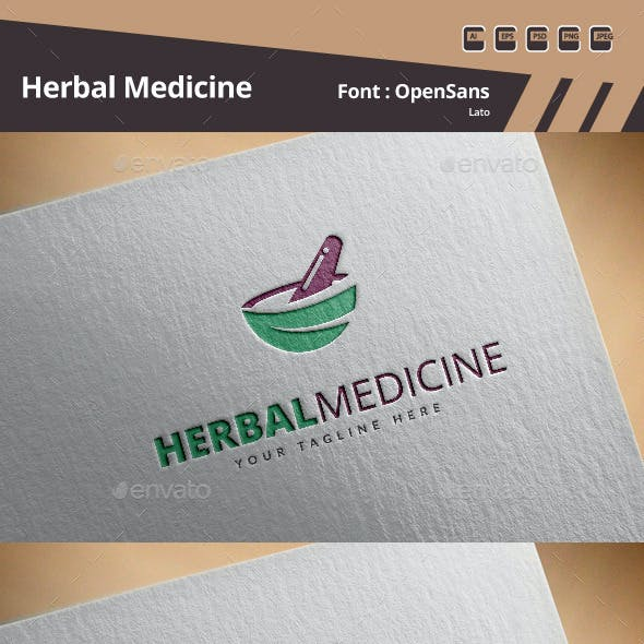 Herbal Medicine Logo Template