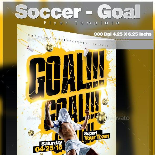 Soccer - Goal Flyer Template